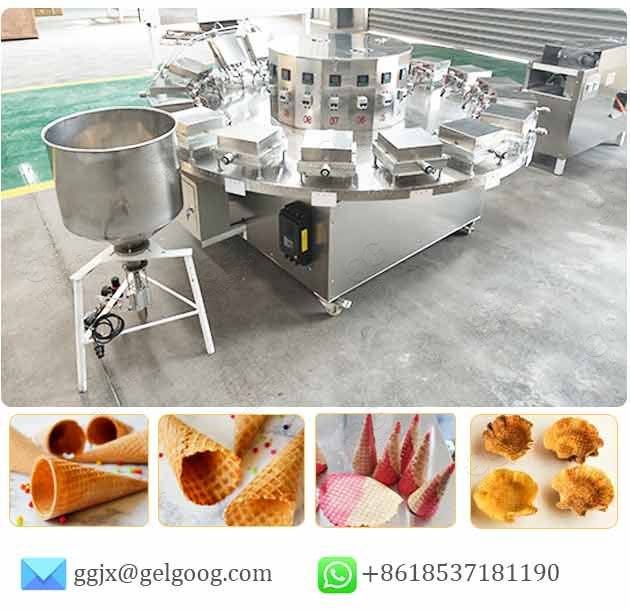 commercial waffle cone making machine