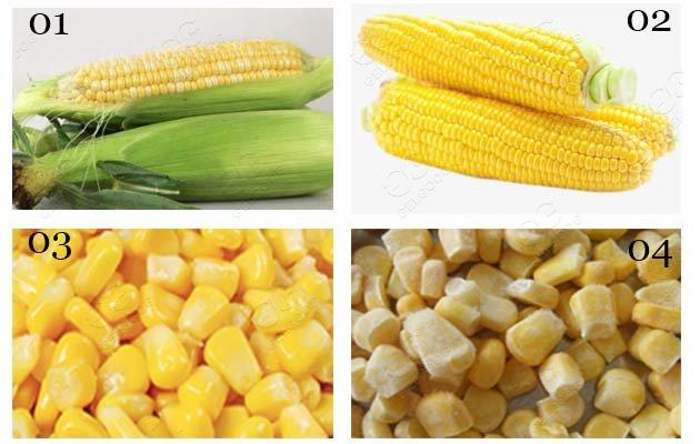 frozen corn processing line