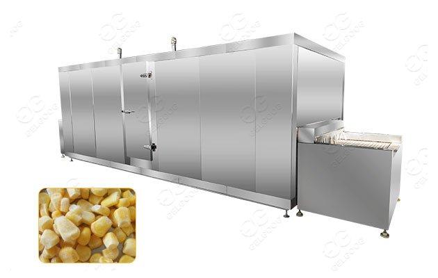 sweet corn quick freezing machine