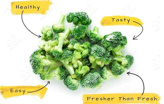 industrial broccoli freezing machine