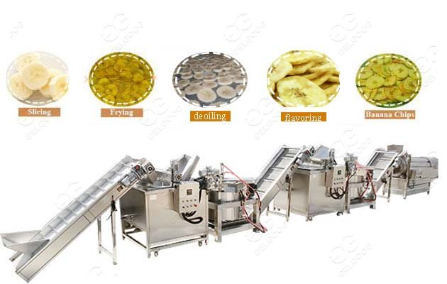 automatic banana chips plant