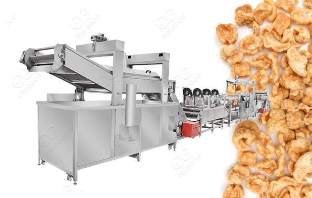 pork skin frying machine for sale