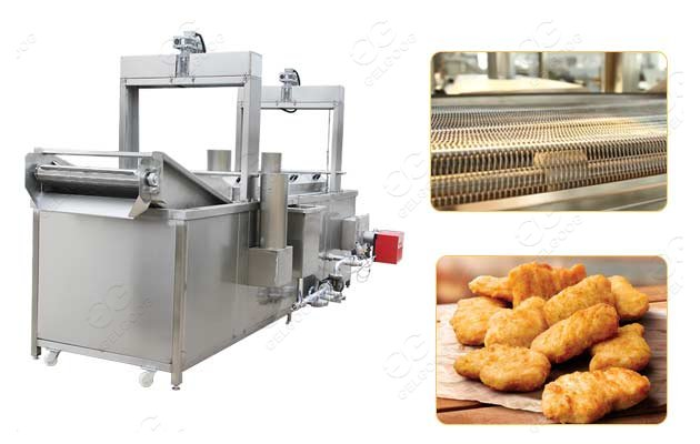gelgoog chicken nuggets frying machine