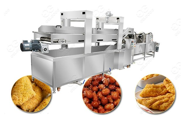 fish skin continuous fryer for sale