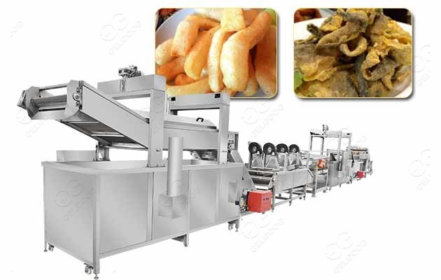 frying machine for fish skin
