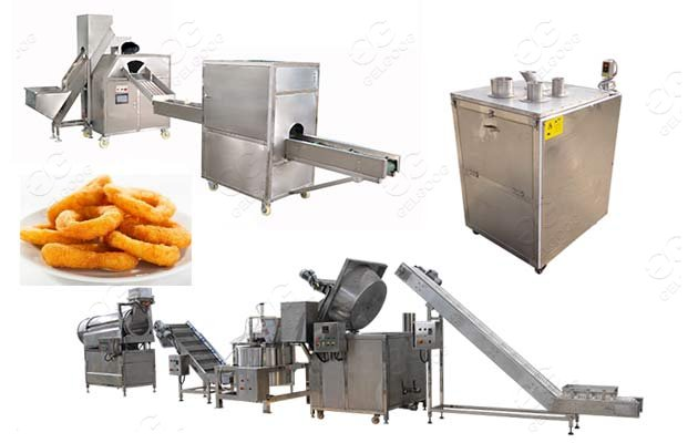 onion frying machine line