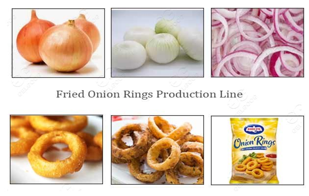 fried onion processing line