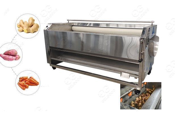brush type potato cleaning machine
