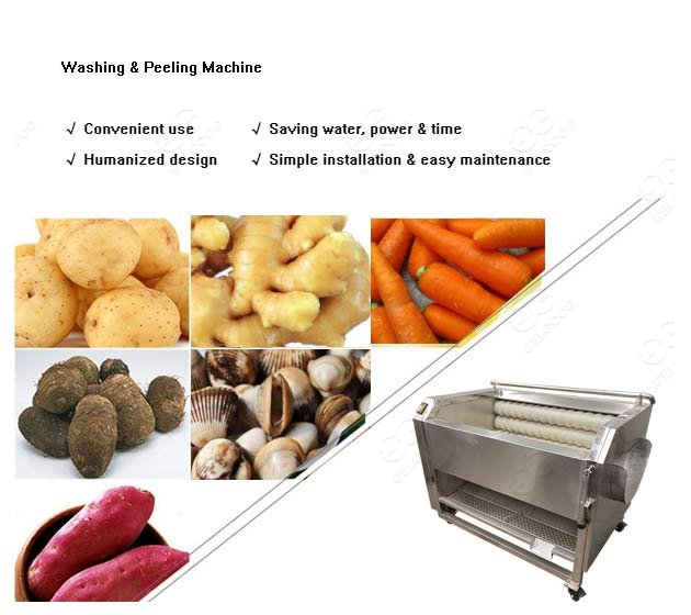 commercial potato washing peeling machine