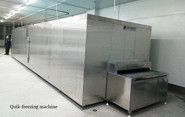 IQF frozen clam machine