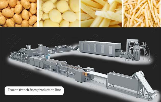 automatic french fries making machine
