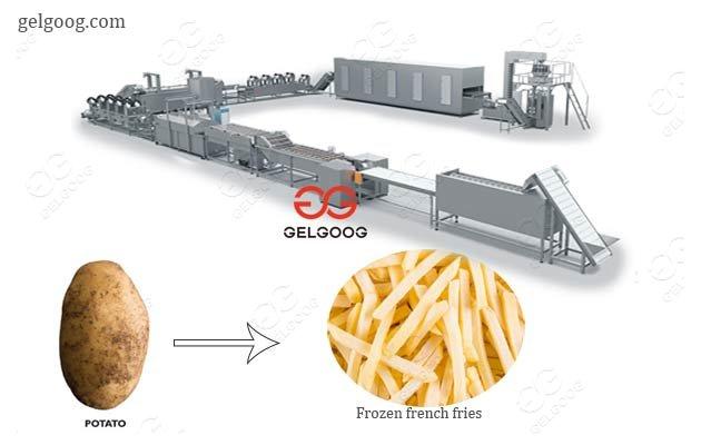 frozen potato fries processing equipment