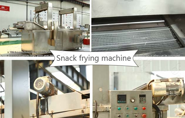 bread snack chips frying machine
