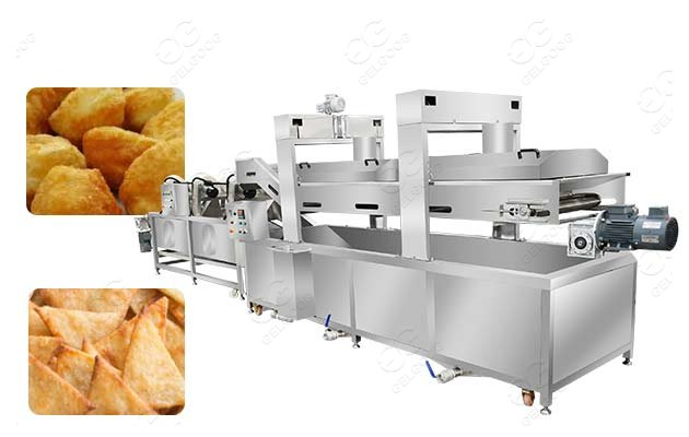 industrial fried snack processing machine