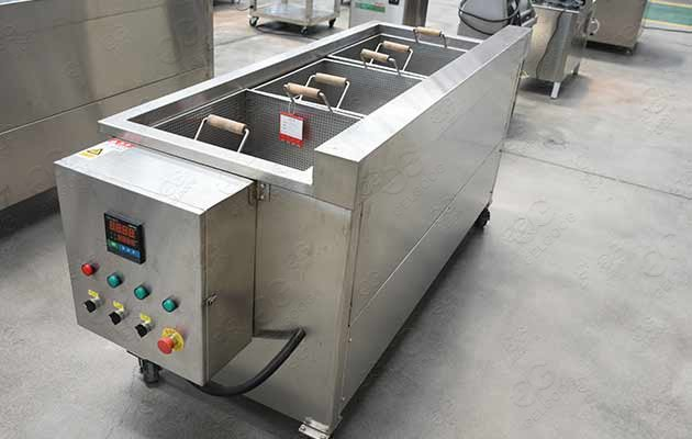 snack frying machine with baskets
