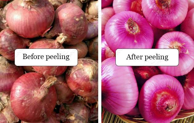 dry onion skin peeling machine