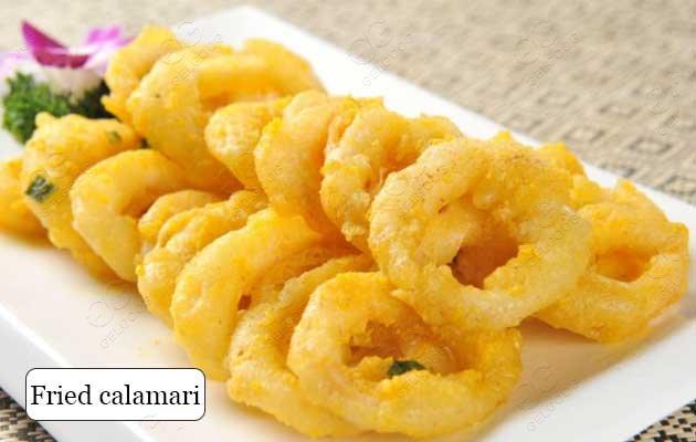commercial calamari frying machine
