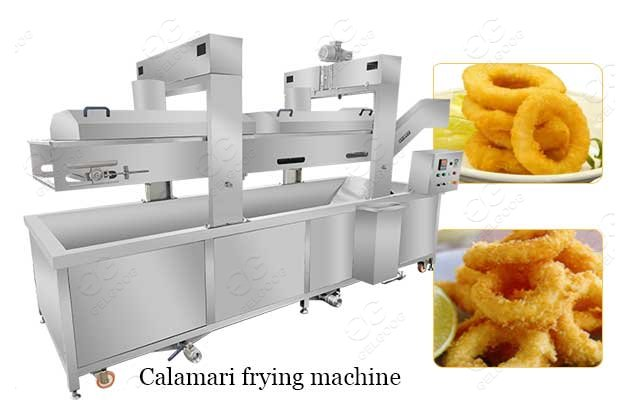 gas calamari frying machine