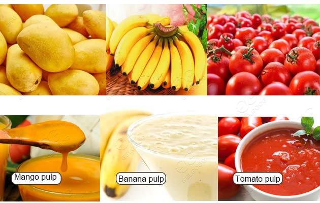 mango fruit pulp making machine