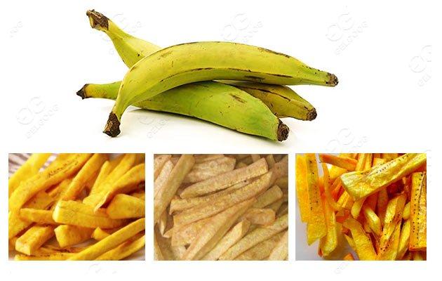 banana fries production line