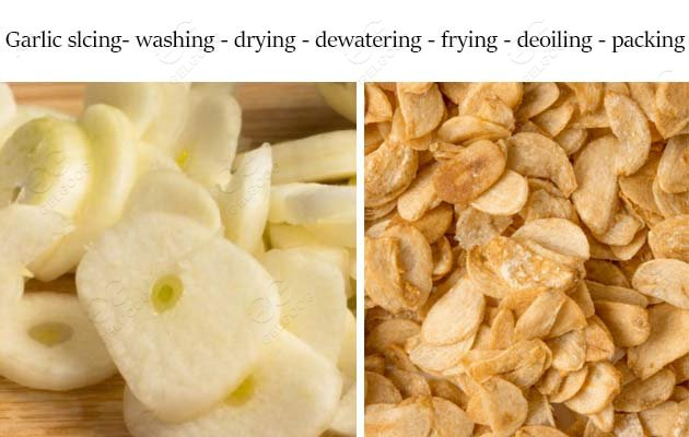 fried garlic flakes machine