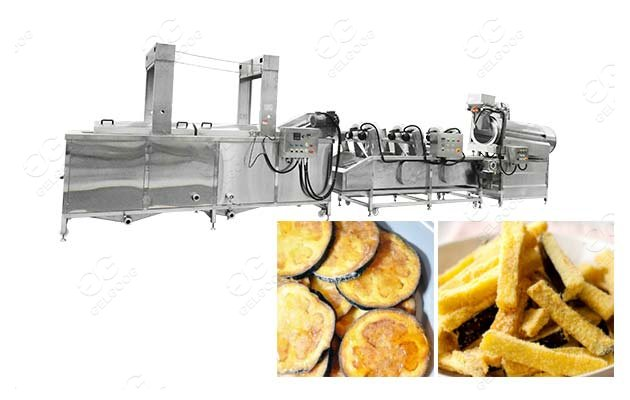 commercial eggplant frying machine