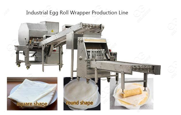 industrial egg roll wrapper production line