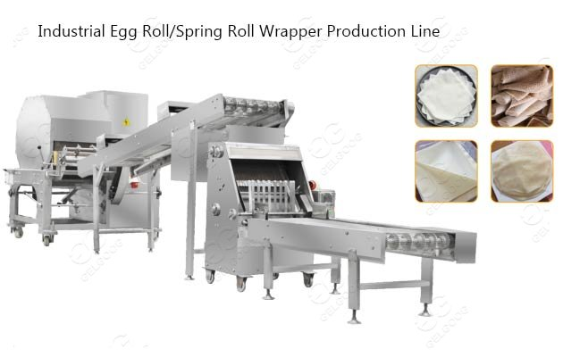 industrial egg roll wrapper making machine
