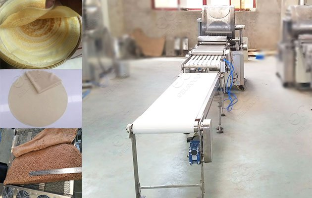 industrial spring roll wrapper making machine