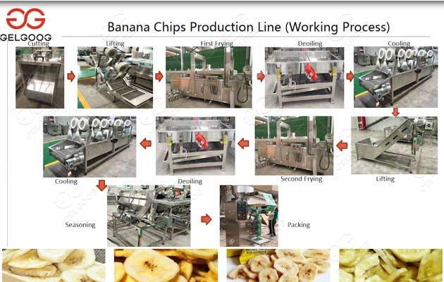 automatic plantain chips machine set