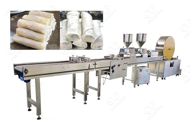 continuous egg spring roll production machine