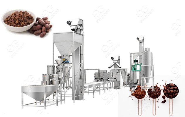 industrial cocoa powder processing plant