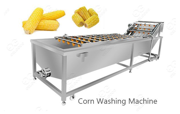 machine for cleaning corn
