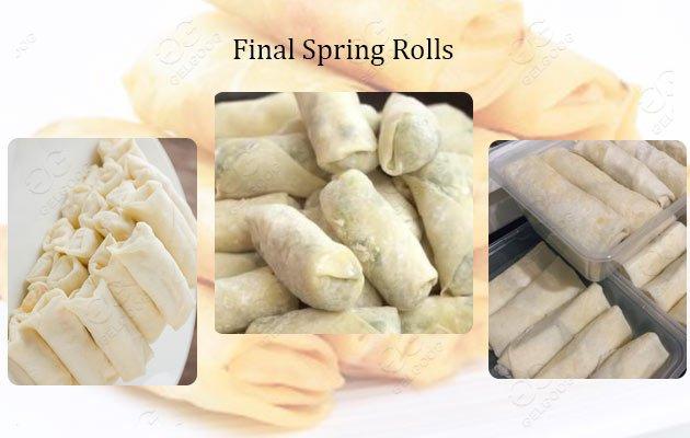 automatic spring rolls machine