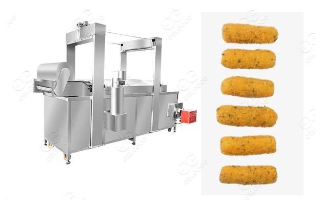 mozzarella stick frying machine